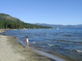 Lake Tahoe Beach and Mountain View